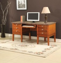 Marble Top Office Desk - Contemporary - Desks And Hutches ...