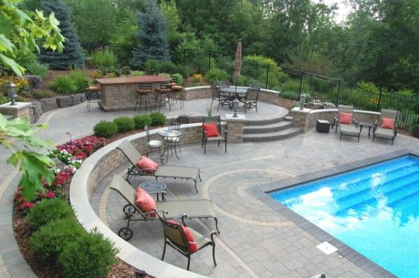 brick - traditional pool minneapolis