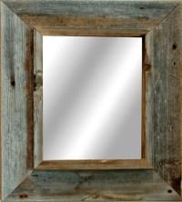 Western Rustic Mirror Reclaimed Barnwood 18x22 frame