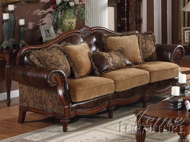 houzz leather sofa living room 1 bedroom ideas traditional furniture | decoration access