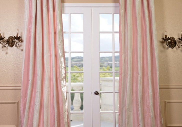 Light Pink Window Curtains