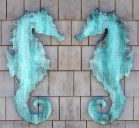 Wooden Seahorse Wall Plaque - Eclectic - Artwork - new ...