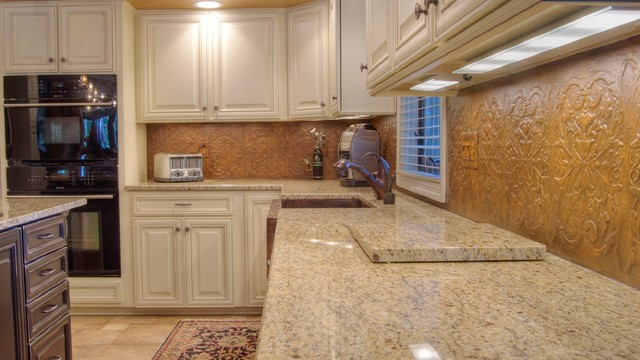 Tuscan KitchenBacksplash  Traditional  Kitchen  other metro  by Ruby Rose Studio LLC
