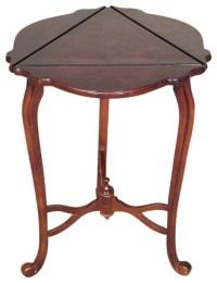 Vintage Burl Walnut Triangular Dropleaf Side Table ...