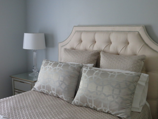 Gray Meets Beige in the Bedroom  Contemporary  Bedroom  other metro  by Streamline Interiors