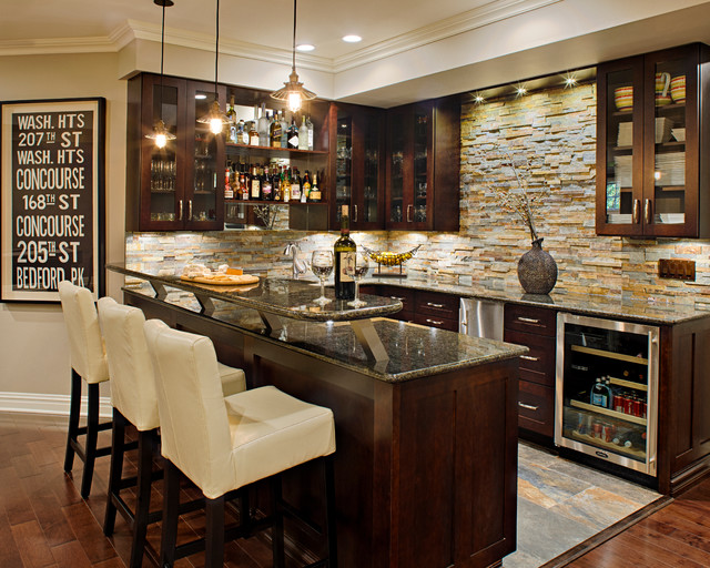 Modern Marvel  Traditional  Home Bar  new york  by Creative Design Construction Inc
