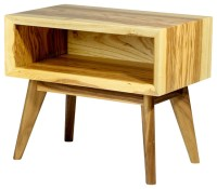 Mid century modern inspired solid ash end table ...