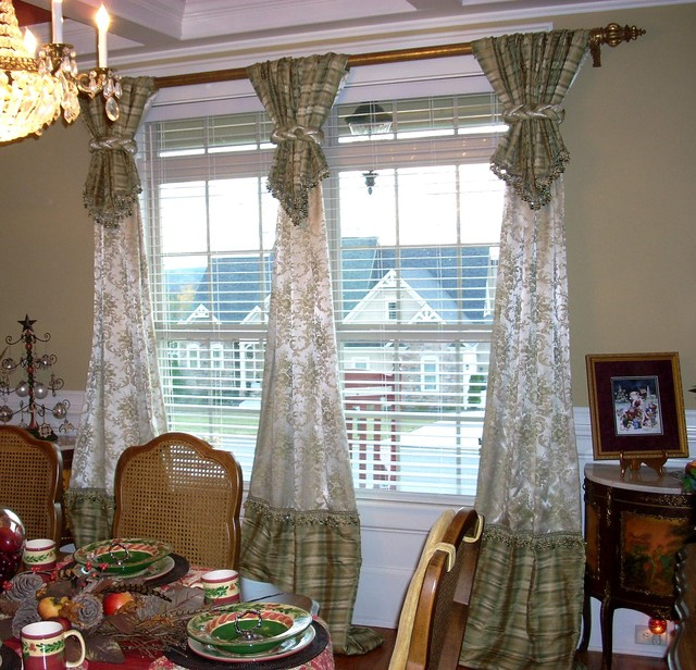 priscilla curtains living room navy blue and white ideas window treatments - traditional dining atlanta ...
