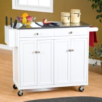The Randall Portable Kitchen Island with Optional Stools ...