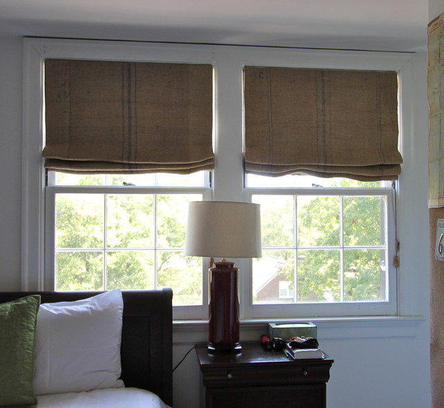 photos coffee sack roman shades eclectic bedroom nashville
