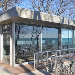 Outdoor Kitchen Pizza Oven Design Drawer Organizers Lake Michigan Beach House - Contemporary Exterior ...