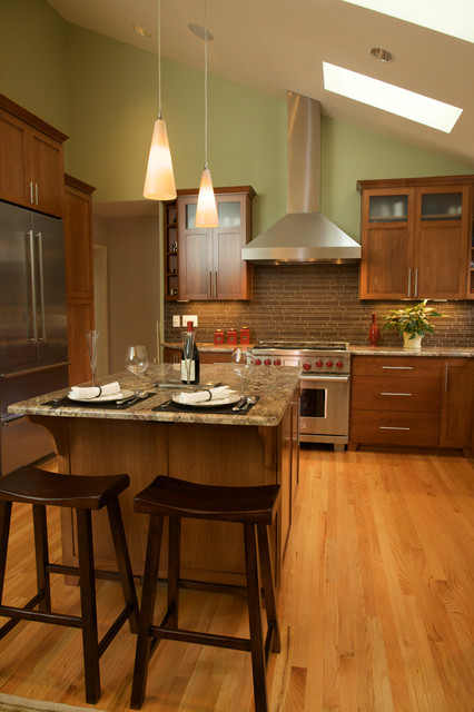 Vaulted Ceiling With Skylights Transitional Kitchen Portland By Designers Edge Kitchen