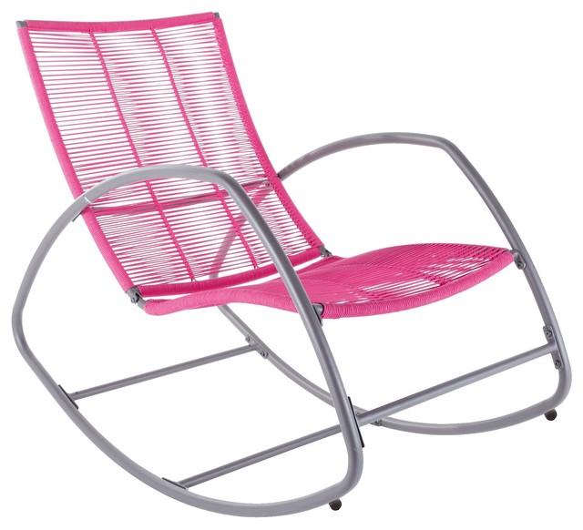 Moretta Metal Pink Rocking Chair contemporaryoutdoor