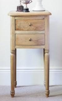 Small Oak Bedside Table