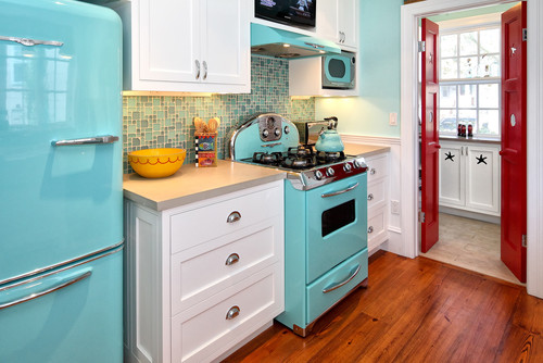 Eclectic Kitchen design by New York Architect Knight Architects LLC