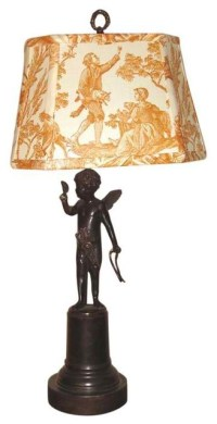 Angel Spelter Lamp