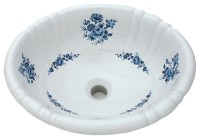 Blue Amaranth Hand Painted Sink - Traditional - Bathroom ...