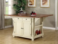 Buttermilk Cherry Wood Kitchen Island Cabinet Wine Rack ...