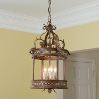 Old World Gold Lantern - Outdoor Hanging Lights - by ...