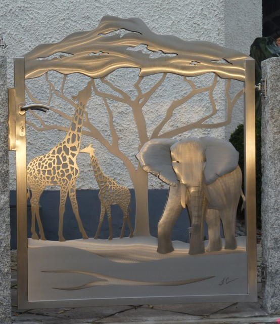 Stainless Steel Gate Out Of Africa Edelstahl Tor