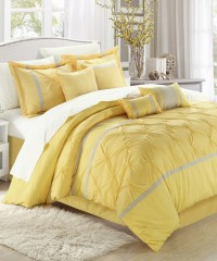 Yellow Vermont Embroidered Comforter Set - Modern ...
