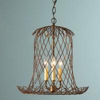 Tulip Wire Basket Lantern