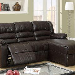 3 Pc Sectional Sofa With Recliners Baxton Studio Whitney Modern Leather Two Piece Set In Black Small Coffee Reclining Recliner ...