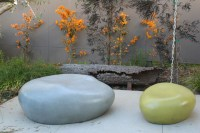 Outdoor Medium Cast stone Seating Pebble