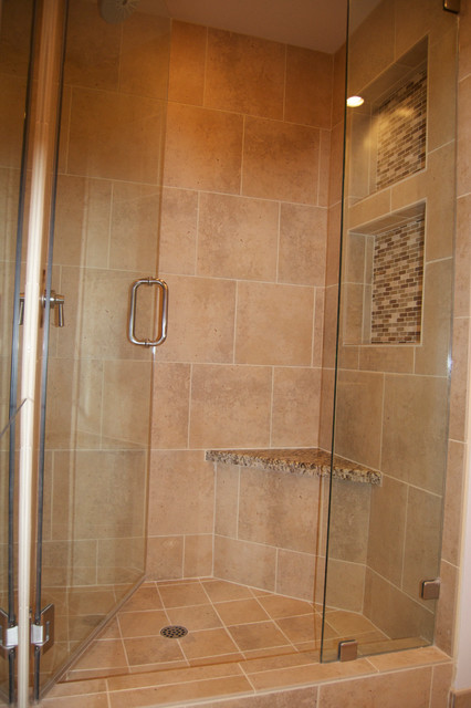 kitchen table and corner bench stove parts shower nooks in closet - traditional bathroom ...
