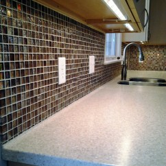 Flush Kitchen Lighting Cost Of Cabinets Solid Surface Tile Ready Back-splash - Contemporary ...