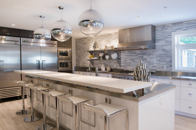 Commercial Grade Kitchen  Modern  Kitchen  vancouver  by Wallflower Boutique