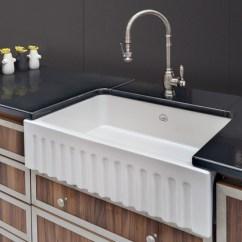 Waterstone Annapolis Kitchen Faucet Cabinet Lights La Cornue Vasque Fireclay Sink - Traditional ...