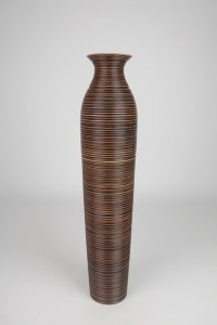 Decorative Tall Floor Vase - Wood - Height 90cm - Vases ...