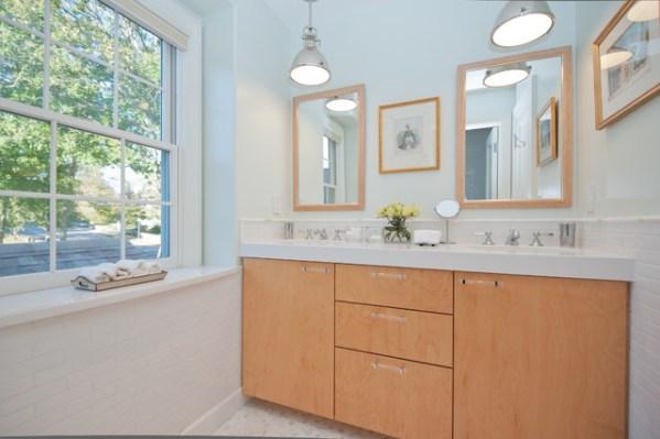 contemporary beach house bathroom Beach House - Contemporary - Bathroom - boston - by Michele Bitter Designs