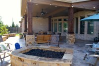 Fire Features by Texas Custom Patios - Rustic - Patio ...
