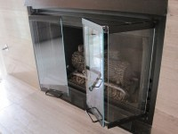 Replacement fireplace doors - Contemporary - Living Room ...