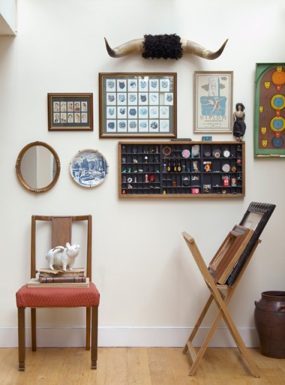 a superb collection of mementos elegantly displayed