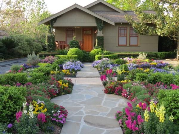 lawn xeriscape - craftsman