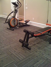 Home Gym with Commercial Carpet Squares - Home Gym - other ...