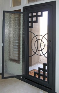 Abstract Iron Entry Door by First Impression Security ...