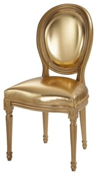Gold Chair LOUIS - Contemporary - Armchairs And Accent ...
