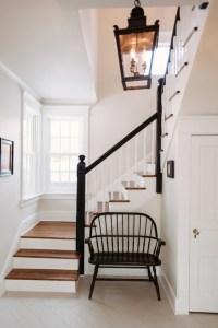 Black & White Entryway - Farmhouse - Staircase - chicago ...