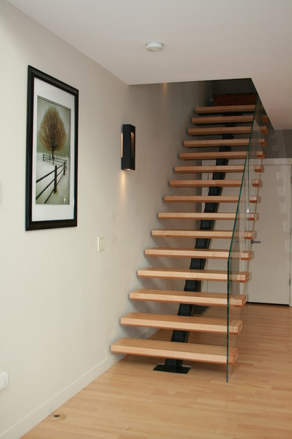 Floating Stair  Transitional  Staircase  boston  by