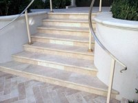 Travertine Stair Treads - Traditional - Landscape ...