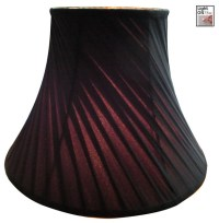 Crisp Linen Twist Bell Lamp Shade - Black - Traditional ...