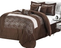 Zebra Brown Comforter Bed in a Bag set - King 8 Piece ...