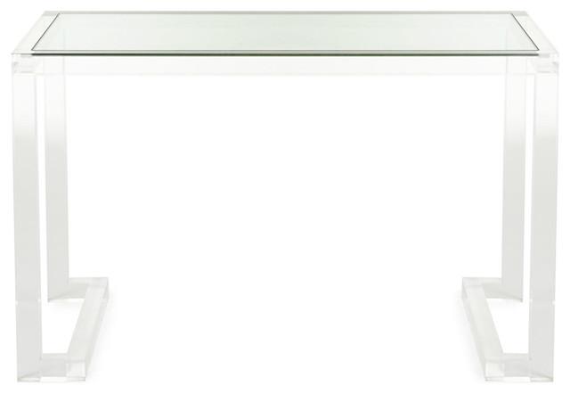 Dana Acrylic Writing Desk  Desks And Hutches  dallas
