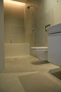 concrete floor in the bathroom? on Pinterest | Modern ...