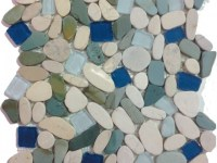 Sea Glass and Pebbles Mosaic Tile, Box - Beach Style ...