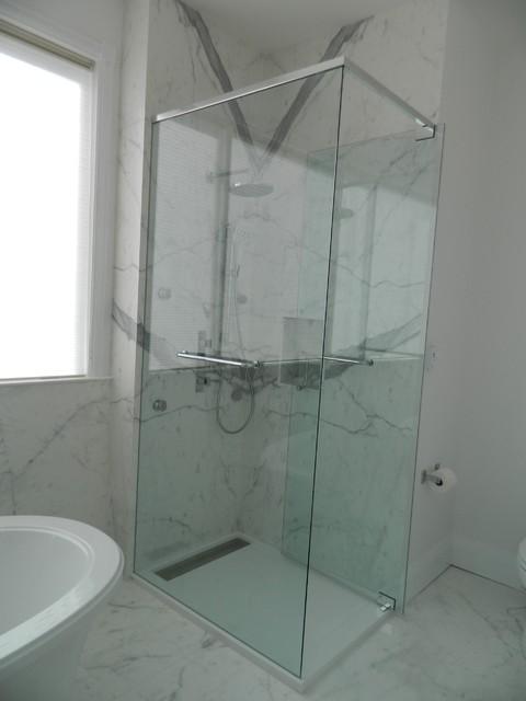 Compact Shower Stall modernbathroom